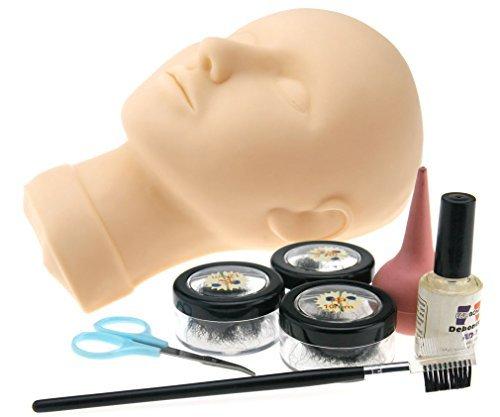 Preisvergleich Produktbild Mannequin Wimpernverlängerung Übungsset Training Kopf Falsche Wimpern