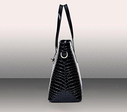 X&L 2016 Handtasche Krokodil drei-Satz Laptop Messenger bag Black