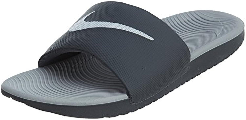 Nike Men'S Kawa Slide Athletic Sandal, Gris Oscuro/Blanco/Gris Lobo, 45 D(M) EU/10 D(M) UK