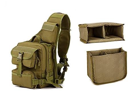 TACVASEN Outdoor Chest Pack Military Ranger Backpack