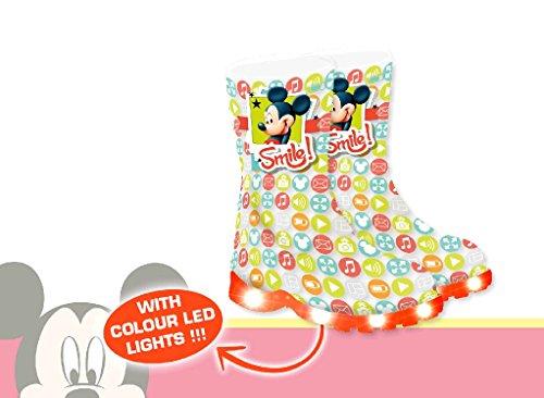 Stivali da pioggia Mickey Mouse con luci led