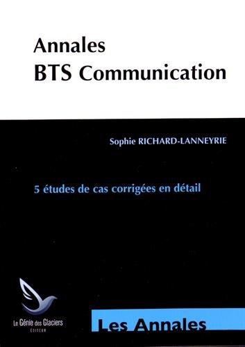 Annales études de cas BTS communication