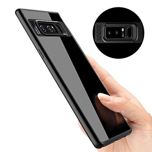 Coque Galaxy Note 8, ikalula Absorption de Choc Samsung Galaxy Note8 Housse de Protection en TPU Résistant aux rayures Très Légère Bumper Case pour Samsung Galaxy Note8 - Noir