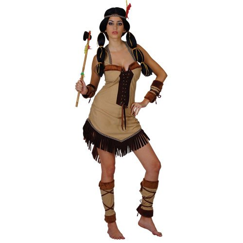 INDIAN PRINCESS POCAHONTAS COSTUME INDIAN FANCY DRESS -