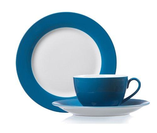 Kaffeeservice Erweiterungsgedeck Doppio petrol-blau