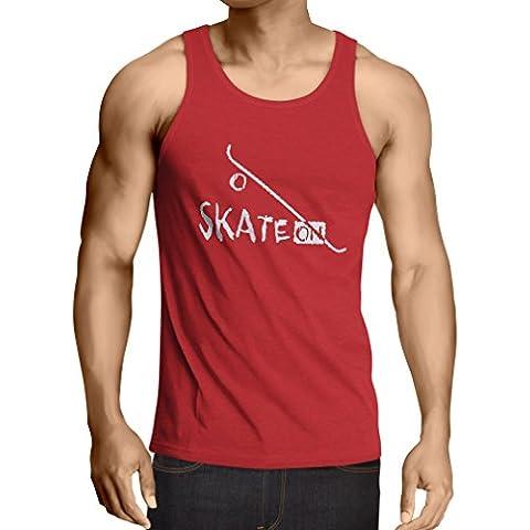 N4197V Camiseta sin mangas Skate ON !