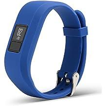 Bemodst® Garmin vivofit3banda de reemplazo de pulsera inteligente pulseras Garmin Garmin 3Vivofit Pure Color Pulsera accesorio de la correa con hebilla de metal para Garmin Vivofit 3con el medio ambiente no tóxico silicona muñequeras, azul marino
