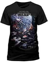 Star Wars X-Wing Tie-Fighter Millenium Falcon Official Tee T-Shirt Top Clothing Mens Ladies Womens Unisex