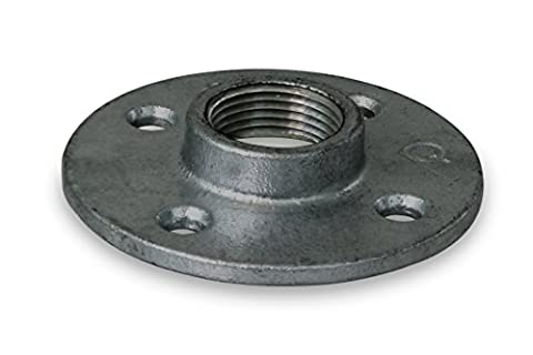 Everflow Supplies BMFL0034 Black Malleable Floor Flange with Four Screw Holes, 3/4