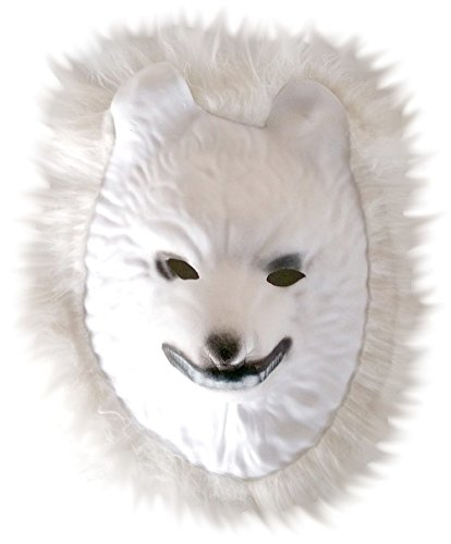Maske Kostüm Wolf Weißer - Inception Pro Infinite Maske für Kostüm - Verkleidung - Karneval - Halloween - Weißer Wolf - Weiße Farbe - Erwachsene - Unisex - Frau - Mann - Jungen