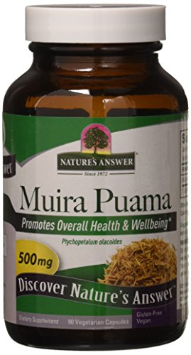 Nature's Answer Muira Puama Bark, 90-Count