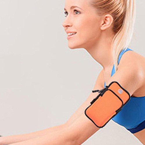 Armpaket Mode Fitness Paket sunnymi Go Outdoors Running Armband Tasche Outdoor Sports Telefon Arm Paket Wandern Cell Strap Pocket (orange, 18*10*3cm) (Strapse Outdoor Research)