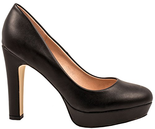 Elara Moderne Damen High Heels | Stiletto Schuhe | Plateau Pumps Schwarz-