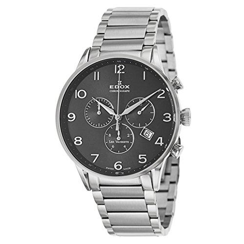 Edox Les Vauberts reloj hombre cronógrafo 10409 3N NBN