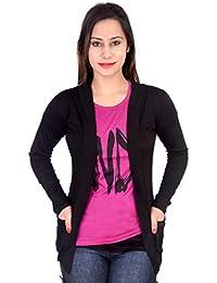 AG Fashion Women's Viscose Shrug, 42 (Black, shrug107)