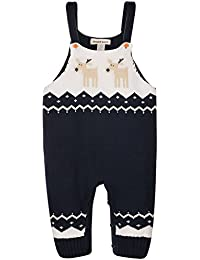 ZOEREA Dungaree Romper Pantalones de Bebé niños Pantalones de punto Géneros de punto