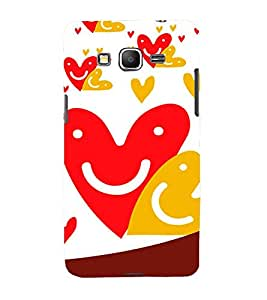 FIOBS love face smiley unique creative art lovely Designer Back Case Cover for Samsung Galaxy Grand Prime :: Samsung Galaxy Grand Prime Duos :: Samsung Galaxy Grand Prime G530F G530Fz G530Y G530H G530Fz/Ds