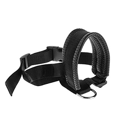 Sqiuxia Pet Dog Padded Head Collar Gentle Halter Leash Leader Stop Pulling Training Tool For Large Dogs,3 Sizes by Sqiuxia