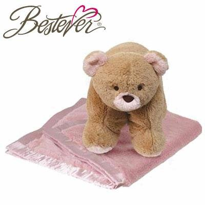 Bestever Snugga pour animaux - Ours Rose couverture et oreiller