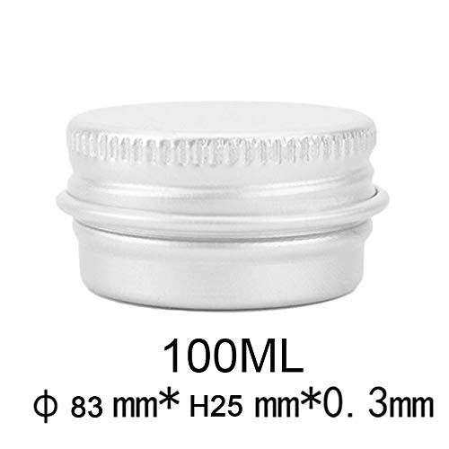 Boîtes de conserve en aluminium rondes avec le pot de stockage de bidon en métal de récipients de couvercles de vis pour le thé cosmétique de poudre de baume à lèvres