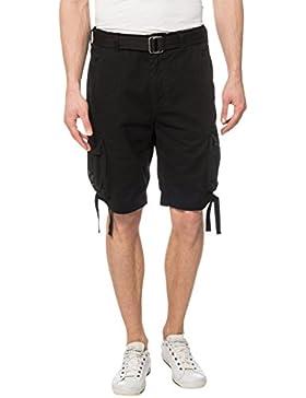 Lower East Herren Cargo Shorts mit Gürtel