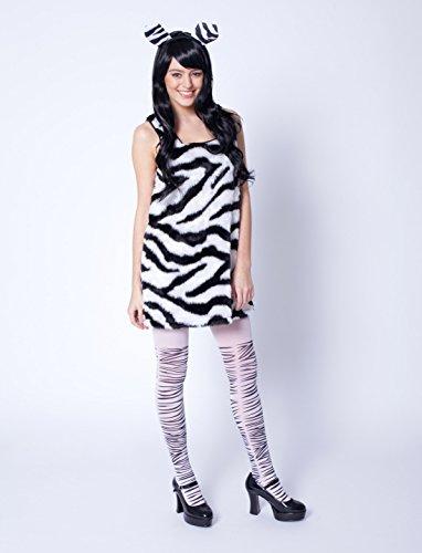 Deiters Kleid Zebra Plüsch Damen 36