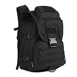 41zvB9aoZaL. SS300  - Tactical Backpack 40L Trekking Rucksack Water Resistant Military Army Combat Rucksack MOLLE Hiking Backpack Black