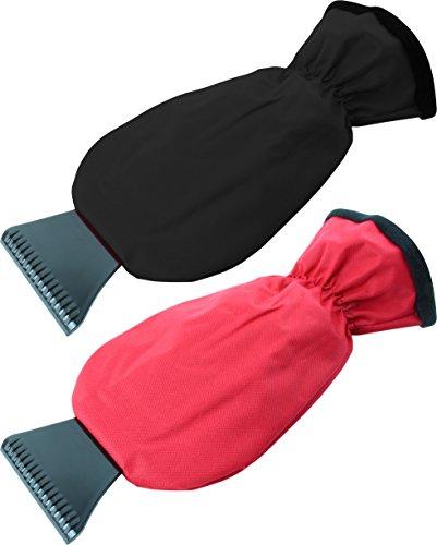 Storfisk fishing & more 2 XL Eiskratzer Handschuhe Ver. Farben deckt bis die hälfte des Unterarms mit ab, Farbe:Schwarz/Rot