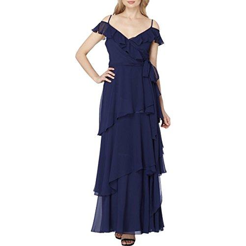 Tahari ASL Womens Ruffle Tiered Semi-Formal Dress