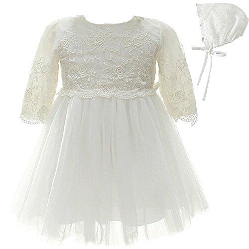 AHAHA Baby Mädchen Prinzessin Kleid Blumenmädchen lange Ärmel Kleid Taufe Kleid Festliche Kleid Hochzeit Kleid Pageant Baby Kleidung