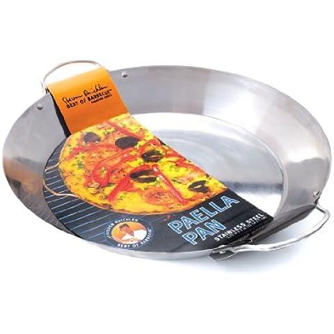 Acciaio inossidabile Paella Pan - di nuovo