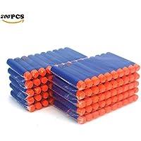 COCOSO 7.2cm Blue Foam Darts for Nerf N-strike Elite Series Blasters Toy Gun (200Pcs)