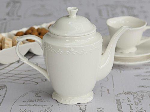Chic Antique Kaffeekanne 'Provence' Porzellan weiß