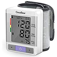 【Salud y Portátil】Tensiómetro de muñeca CocoBear Tensiometro de muñeca digital,Memoria(