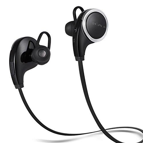SENDIS Ecouteurs Bluetooth 4,1 Stéréo avec Micro Oreillettes Sans Fil de Sport pour Apple iPhone, Smartphones Android, Windows et Autres Appareils Bluetooth (Noir)
