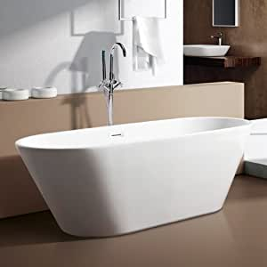 Freestanding Bath Tub Acrylic White 1500