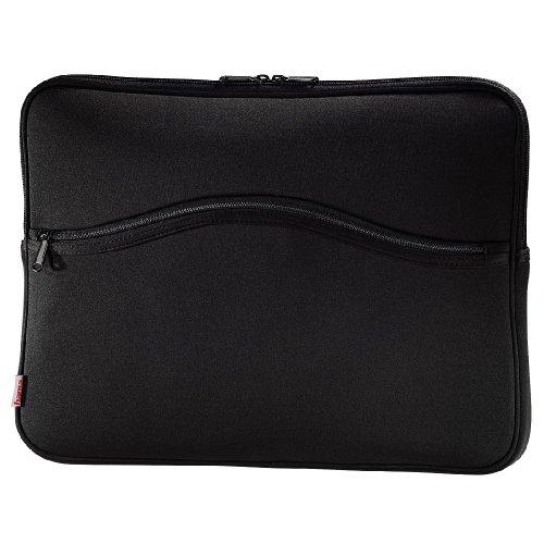 Hama Notebook-Cover Comfort (Schutzhülle für Notebook / Netbook / Laptop, Notebooktasche geeignet für Computer bis 44 cm / 17 Zoll Bildschirmdiagonale, Laptoptasche stoßfest, gepolstert) schwarz