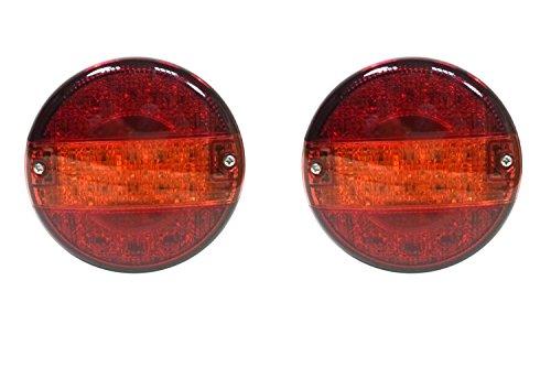 Preisvergleich Produktbild 2x 12V 24V LED Recovery hinten Schwanz Lampen Leuchten Trailer LKW Truck Chassis Kippmulde