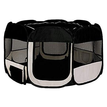 dibea Welpenlaufstall Welpenauslauf Tierlaufstall Freilaufgehege Hundelaufstall Hundeauslauf, faltbar, für Innen und…