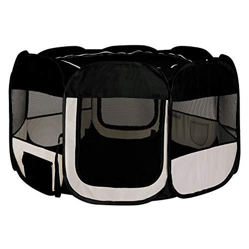 Dibea Pp00255 - Parque para Cachorros y Perros, Plegable, para Interior y Exterior, Color Negro y Beige