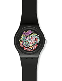 Swatch Damen Armbanduhren WILD FACE Analog Quarz Kautschuk SUOZ167