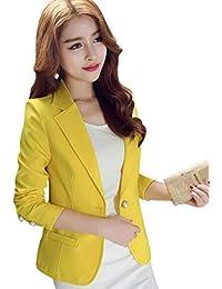 7b328202cd Kaiyei Mujer Otoño Primavera Blazers y Chaquetas Trabajo Oficina Dama Traje  Slim Office Blazer Mujer Escudo
