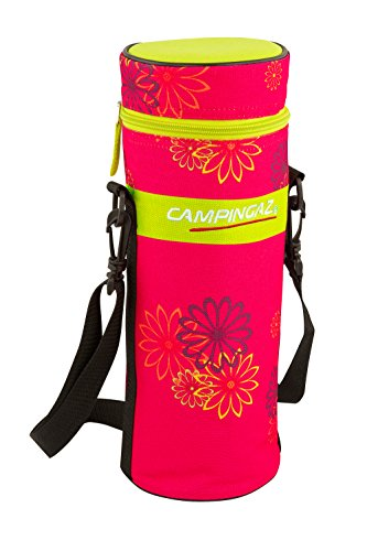 Campingaz Pink Daisy Bottle Cooler - Nevera flexible, 1.5 l