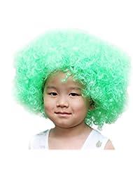DELEY Niño del Traje de Halloween de colores Rizado Afro Payaso de la Fiesta de Pelucas Peluca Accesorios