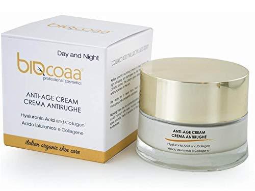 Crema antiedad   noche día   ácido hialurónico