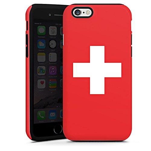Apple iPhone 5s Housse Étui Protection Coque Suisse Suisse Drapeau Cas Tough terne