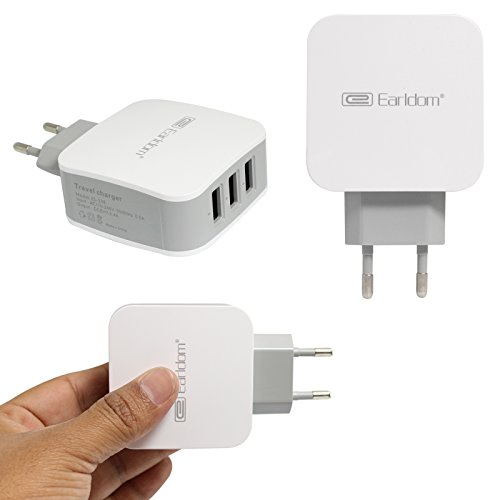 DMG Earldom 3 Port USB Connector 3.4A Turbo Charging Dual Pin Socket Hub for Apple iPad/iPhone/Samsung/Android Mobiles/Tablets/GPS