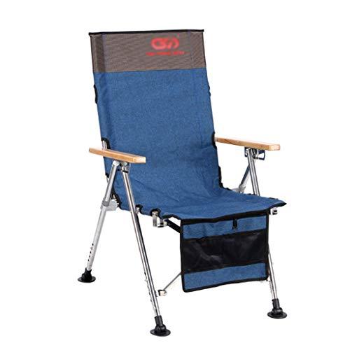 Chaises de pêche Chaise De Sport en Plein Air Chaise De Plage Chaise De Camping Chaise Pliante Chaise Longue Peut Supporter 150 Kg Cadeau (Color : Blue, Size : 51 * 65 * 48cm)