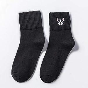 CXKWZ Damensocken Herbstwintersocken Für Frauenbaumwollsockenstickerei Nette Socken Weibliche Beiläufige Soxdamen