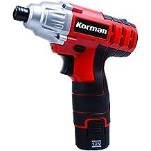 Korman 500244 - Llave de impacto, batería de litio 1,5 Ah (12 W, 12 V)